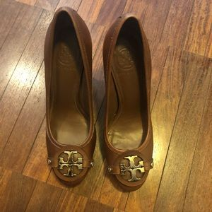 Tory Burch authentic brown leather heels 👠